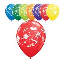 Aliens & Spaceships Balloons - 11 Inch Balloons 25pcs